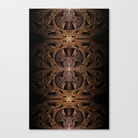 Steampunk Engine Abstract Fractal Art Canvas Print