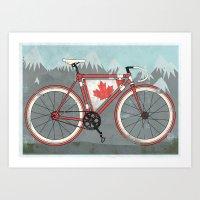 Love Bike, Love Canada Art Print