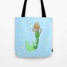 Sloth Mermaid Tote Bag