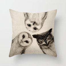 The Owl's 3 Throw Pillow