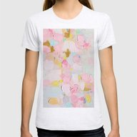 Cotton Candy Dreams Womens Fitted Tee Ash Grey SMALL