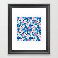 Bloom Blue Framed Art Print