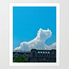 Dinosaur Cloud Art Print