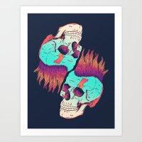 Skull Redux Art Print