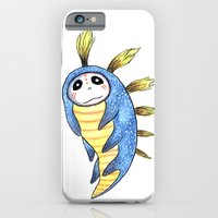 iPhone & iPod Case featuring Blue Impworm by Starla Friend