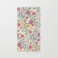 feather fleur watercolor Hand & Bath Towel