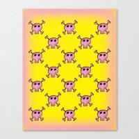 Pink Lemonade Punk Skull… Canvas Print