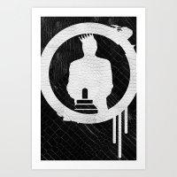 SNAKE ON SNAKE Art Print