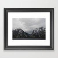 Jenny Lake And The Teton… Framed Art Print