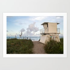 Hobe Sound Lifeguard  Art Print