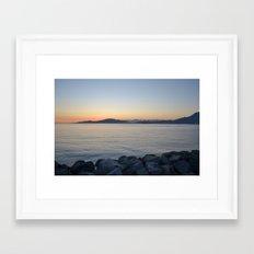 on a western shore Framed Art Print