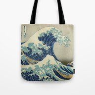 Tote Bag featuring The Great Wave Off Kanag… by Palazzo Art Gallery