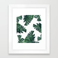 Banana Leaf Watercolor P… Framed Art Print