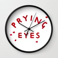 Prying Eyes Wall Clock
