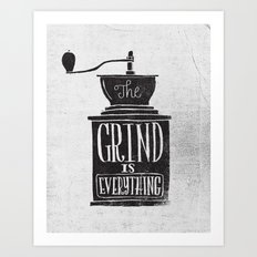 the daily grind Art Print