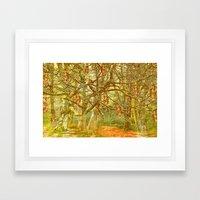 Hanging by a thread Framed Art Print