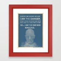 Walter White - Breaking Bad Framed Art Print