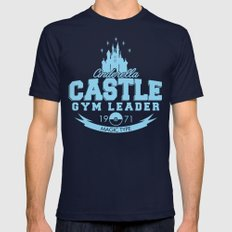 Cinderella Castle Gym Mens Fitted Tee Navy SMALL