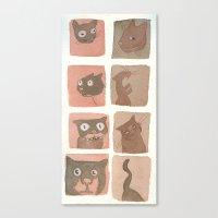 Expressive Cats Canvas Print