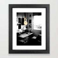 ART STUDIO - GUITAR Framed Art Print