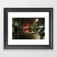 Snowing In London Framed Art Print