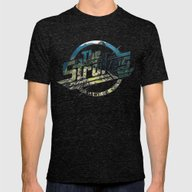 The Strokes Logo Machu P… Mens Fitted Tee Tri-Black SMALL