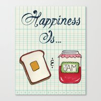 Happiness Is Toast & Jam Canvas Print
