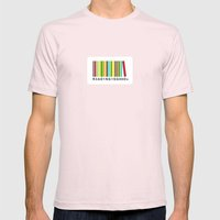 Reading Is Good Mens Fitted Tee Light Pink SMALL