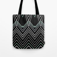 Mint Chevy On Black Tote Bag