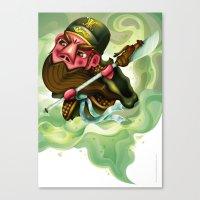 The Three Kingdom - Guan Yu Canvas Print