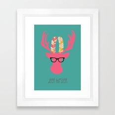 Deer Hipster Framed Art Print