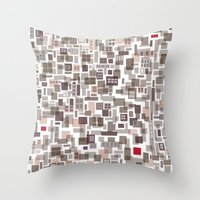 Mapping home 3 Throw Pillow