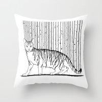Inkcat5 Throw Pillow