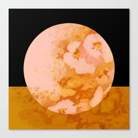 Moon Floral Canvas Print