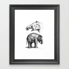 Baby Elephant study G2011-008c Framed Art Print