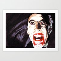 The Horror Of Dracula Art Print