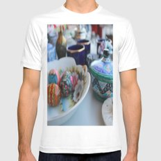 Vintage SMALL White Mens Fitted Tee