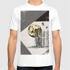 lunatics SMALL White Mens Fitted Tee