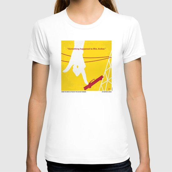 No276 My Attack of the 50 Foot Woman minimal movie poster T-shirt
