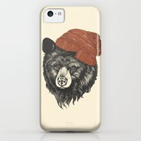 iPhone 5c Cases featuring zissou the bear by Laura Graves