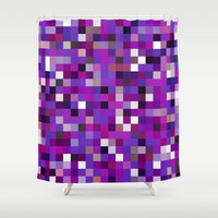 Pixel Painting Shower Curtain