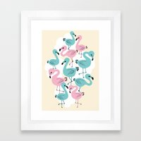 Flamingo Go Go Framed Art Print