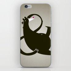 amp-bear-sand poster iPhone & iPod Skin