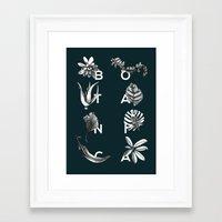 Botanica Letters | Forest Green Framed Art Print