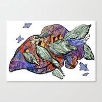 Explore (purple) Canvas Print