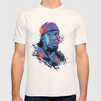 Omar Little // OUT/CAST Mens Fitted Tee Natural SMALL