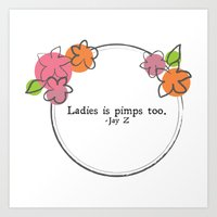 Floral - Ladies Art Print