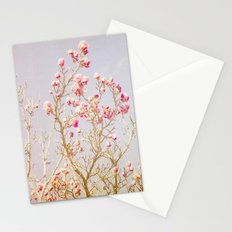 Sweet Pink Magnolias Stationery Cards