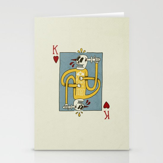 King of Hearts Stationery Card