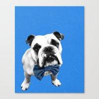 Blue Bowser Canvas Print